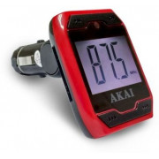 """CAR FM TRANSMITTER  AKAI FMT-701D • Play & transmit audio files – MP3 Format• USB and SD Card Slot Reader (Max. 32GB)• Support play-back of MP3 format files from any othercompatible Audio device• Audio cable included• Aux-In 3.5 mm con• Loop Mode• Suppo"