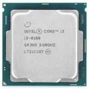 Процессор Intel Core i3-8100 3.6GHz (4C/4T,6MB, S1151,14nm,Intel Integrated UHD Graphics 630,65W) Tray