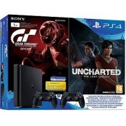 Sony PlayStation 4 PS4 Slim 1TB + Gran Turismo Sport - Uncharted The Lost Legacy + DualShock 4 extra
