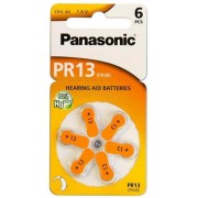 """PR13, Blister*6, Panasonic, PR-13/6LB (PR48), 5.4x7.9mm, 300mAh -     http://www.panasonic-batteries.com/eu/products/special/hearing_aid_batteries/PR13"""