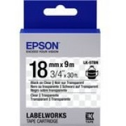 C53S655008 Tape Epson LK5TBN Clear Blk/Clear 18/9