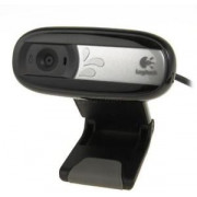 Logitech Webcam C170, Microphone, Video calling (640 x 480 pixels), Photos 5 megapixels (soft. enh.), Fluid Crystal™ Technology3, Right Sound, USB 2.0 (camera web/веб-камера)