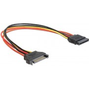 """Cable SATA power extention cable, 0.5 m, Cablexpert CC-SATAMF-02 -     http://cablexpert.com/item.aspx?id=9028"""