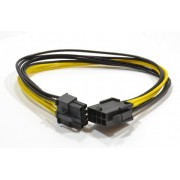 """Cable, CC-PSU-84 ATX Internal 6+2 pin PCI express power extension cable, 0.3 m, Cablexpert -     http://cablexpert.com/item.aspx?id=9763"""