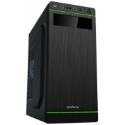 """Case ATX 500W Sohoo 5907BG, Black-Green, ATX-500W-12cm D*W*H:370*180*412mm Standard ATX, Micro ATX, Mini-ITX Drive Bays: 3 x 5.25 ; 3 x 3.5""(1x 3.5"" external+2x 3.5"" internal) ; 2 x 2.5"""" SSD  7 x Expansion Slots  330 mm extra long cards 1 x 120 mm"