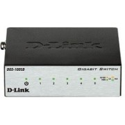 D-Link DGS-1005D/I2A L2 Unmanaged Switch with 5 10/100/1000Base-T ports, 2K Mac address, Auto-sensing, Metal case