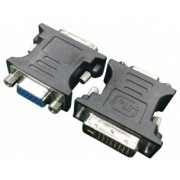 Adapter DVI-VGA  - Gembird A-DVI-VGA-BK, Adapter DVI-A male to VGA 15-pin HD (3 rows) female, Black