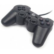 Gembird JPD-UDV-01 Dual vibration gamepad, 2 sticks, 4-way D-pad and 10 action buttons, USB 2.0, 1.8m, Black
