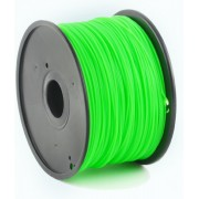 """ABS Filament Luminous Green, 1.75 mm, 1 kg, Gembird, 3DP-ABS1.75-01-LG -      https://gembird.nl/item.aspx?id=9463"""