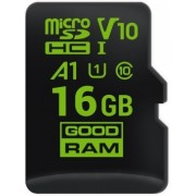 16GB microSD Class10 UHS-I + SD adapter  GOODRAM M1, 333x, Up to: 60MB/s