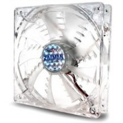 "92mm Case Fan - ZALMAN ""ZM-F2 LED(SF)"" Case Fan with Blue LED, 92x92x25mm, 1500rpm, <20~23dBa, Long Life Bearing, 3Pin, Shark fin blade design, Minimized noise and vibration, Silicone pin provided, Transparent"