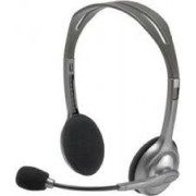 Logitech Stereo Headset H111 - One Plug , Headphone: 20 - 20,000 Hz, Mic: 100 - 16,000 Hz, Single 3.5mm jack, 1.8m