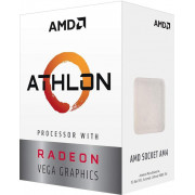 CPU AMD Athlon 200GE Dual Core, 4 Threads, 3.2GHz, AMD Radeon Vega 3 graphics, 5MB Cache, AM4, Cooler, BOX