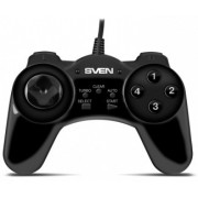 SVEN GC-150 Gamepad, Vibration feedback, 2 axes, D-Pad, 1 joystick and 13+3 buttons, USB, Black