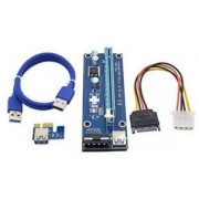"""PCI-Express  riser add-on card, MOLEX power, Gembird RC-PCIEX-04 -      https://gembird.nl/item.aspx?id=10071"""