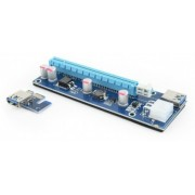 """PCI-Express  riser add-on card, PCI-ex 6-pin power connector, Gembird RC-PCIEX-03 -      https://gembird.nl/item.aspx?id=10046"""
