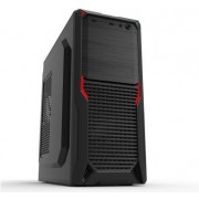 """Case ATX 500W Sohoo 5907BR, Black-Red, ATX-500W-12cm D*W*H:370*180*412mm Standard ATX, Micro ATX, Mini-ITX Drive Bays: 3 x 5.25 ; 3 x 3.5""(1x 3.5"" external+2x 3.5"" internal) ; 2 x 2.5"""" SSD  7 x Expansion Slots  330 mm extra long cards 1 x 120 mm f"