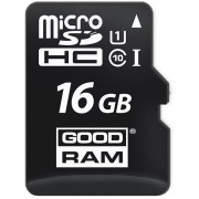 16GB  GoodRAM micro SDHC Class10 UHS-I + SD adapter, Up to: 100MB/s