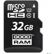 32GB  GoodRAM micro SDHC Class10 UHS-I + SD adapter, Up to: 100MB/s