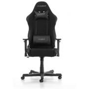 Gaming Chairs DXRacer - Racing GC-R0-N01-W1, Black/Black/Black - Fabric & PU leather,Gamer weight up to 100kg / growth 165-195cm,Foam Density 50kg/m3, 5-star Alumin IC Base,Gas Lift 4 Class, Recline 90*-135*, Armrests:3D, Pillow-2, Caster-2*PU,W-22kg