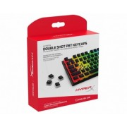 HYPERX Double Shot PBT Keycaps, US, Black/Translucent design for lustrous RGB lighting, Made of durable double shot PBT material, HyperX keycap removal tool included