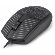 Mouse SVEN RX-70, Optical, 1200 dpi, 3 buttons, Ambidextrous, Backlight, Soft Touch , Black, USB