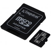 32GB Kingston Canvas Select Plus SDCS2/32GB microSDHC, 100MB/s, (Class 10 UHS-I) + Adapter MicroSD->SD (card de memorie/карта памяти)