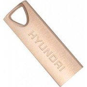 16GB USB2.0  Hyundai Bravo Deluxe Metal casing, Rose Gold, Compact and lightweight, (Read 18 MByte/s, Write 10 MByte/s)