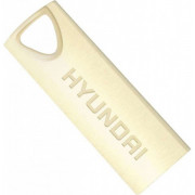 16GB USB2.0  Hyundai Bravo Deluxe Metal casing, Gold, Compact and lightweight, (Read 18 MByte/s, Write 10 MByte/s)