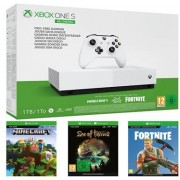 Xbox One S 1 TB all digital + sea of thieves + minecraft + fortnite