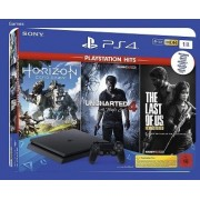 Playstation 4 Slim 1 TB + horizon zero dawn + uncharted 4 , last of us