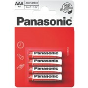 "Panasonic ""Zink Carbon"" AAA Blister*4, Manganese Dioxide, R03REL/4BPR"