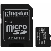 32GB Kingston microSD Class10 UHS-I  U1 V10  A1 + SD adapter Canvas Select Plus, Up to: 100MB/s