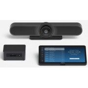 Logitech Video Conferencing System MeetUp, 4K Ultra HD (3840x2160, 30 fps.), 5x HD zoom, 120-degree field of view, 3-microphone speakerphone, 3 camera presets, All-in-one design, Remote control, Bluetooth,USB 2.0/3.0