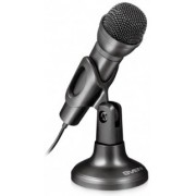 SVEN MK-500, Microphone, Desktop, On/off switch button, Flexible stand for rotation at any angle, Black