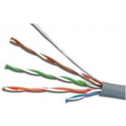 """Cable FTP Cat.5e outdoor cable with messenger, 24AWG 4X2X1/0.525 copper,  APC Electronic, 305m Double jacket: PVC+PE) """