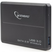 Gembird EE2-U3S-4, External enclosure for 2.5'' SATA HDD with USB3.0(5Gb/s) interface, Black