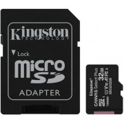 ".32GB MicroSD (Class 10) UHS-I (U1) +SD adapter, Kingston Canvas Select+ ""SDCS2/32GB"" (R:100MB/s)"