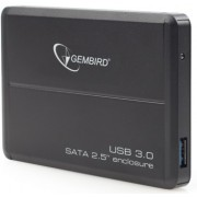 Gembird EE2-U3S-2, External enclosure for 2.5'' SATA HDD with USB3.0(5Gb/s) interface, Aluminium case, Black