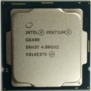 Intel® Pentium® G6400, S1200, 4.0GHz (2C/4T), 4MB Cache, Intel® UHD Graphics 610, 14nm 58W, tray