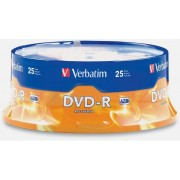 DVD-R Disc 4.7 GB, 16x, 25-Spindle, Verbatim, 43522S