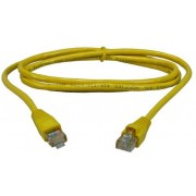 "Patch Cord     1 m, Yellow, PP12-1M/Y, Cat.5E, molded strain relief 50u"" plugs"