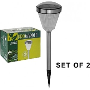 Set Lampi Solare.Nabor Fonarej Soln Nerzh Pro Garden 2sht Set Lampi Solare Metal Pro Garden 2buc