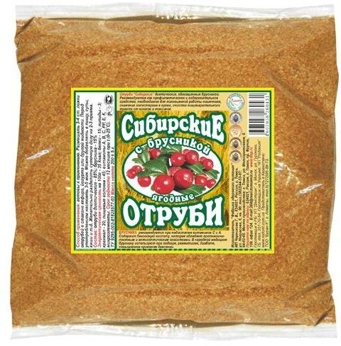 отруби сибирские диетические с брусникой 200г