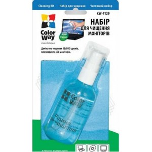ColorWay CW-4129 LCD Screen Cleaning Kit (Spray + Microfiber Cloth)