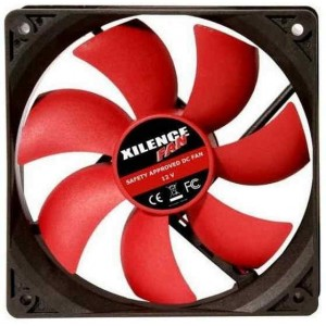 92mm Case Fan - XILENCE XPF92.R Fan, 92x92x25mm, 1500rpm, <19dBa, 36CFM, hydro bearing, Big 4Pin and 3Pin Molex, Black/Red