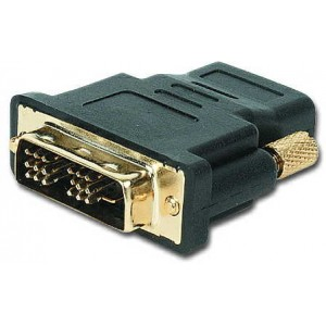 Adapter Gembird A-HDMI-DVI-2, HDMI to DVI female-male adapter with gold-plated connectors, bulk