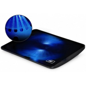 "DEEPCOOL ""WIND PAL MINI"", Notebook Cooling Pad up to 15.6"", 1 fan - 140mm Blue LED, 1000rpm, <21.6 dBA, 46.1CFM, Slim design, Metal Mesh Panel, Black"