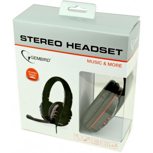 """Headset Gembird MHS-402, 2 * 3.5mm jack, Volume control on cable -    http://www.gembird.ru/item.aspx?id=7723"""