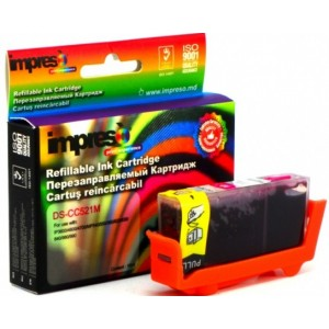 Impreso IMP-DS-CC521M Magenta Refillable Canon iP3600/4600/4700/MP540/550/560/620/630/640/980/990/MX860/870, w/chip (10ml)